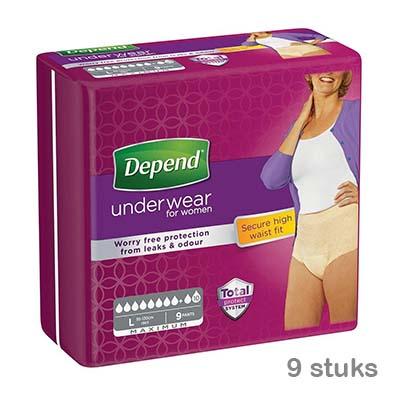 Depend-pants-maximum-vrouw-l
