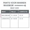 Maattabel pants maximum